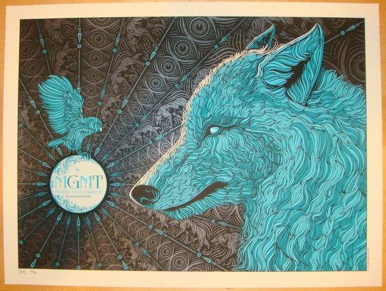 2013 MGMT - Kansas City Silkscreen Concert Poster by Todd Slater