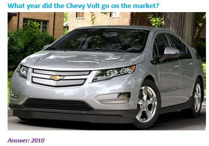 Triviatuesday What Year Did The Chevy Volt Hit The Market In