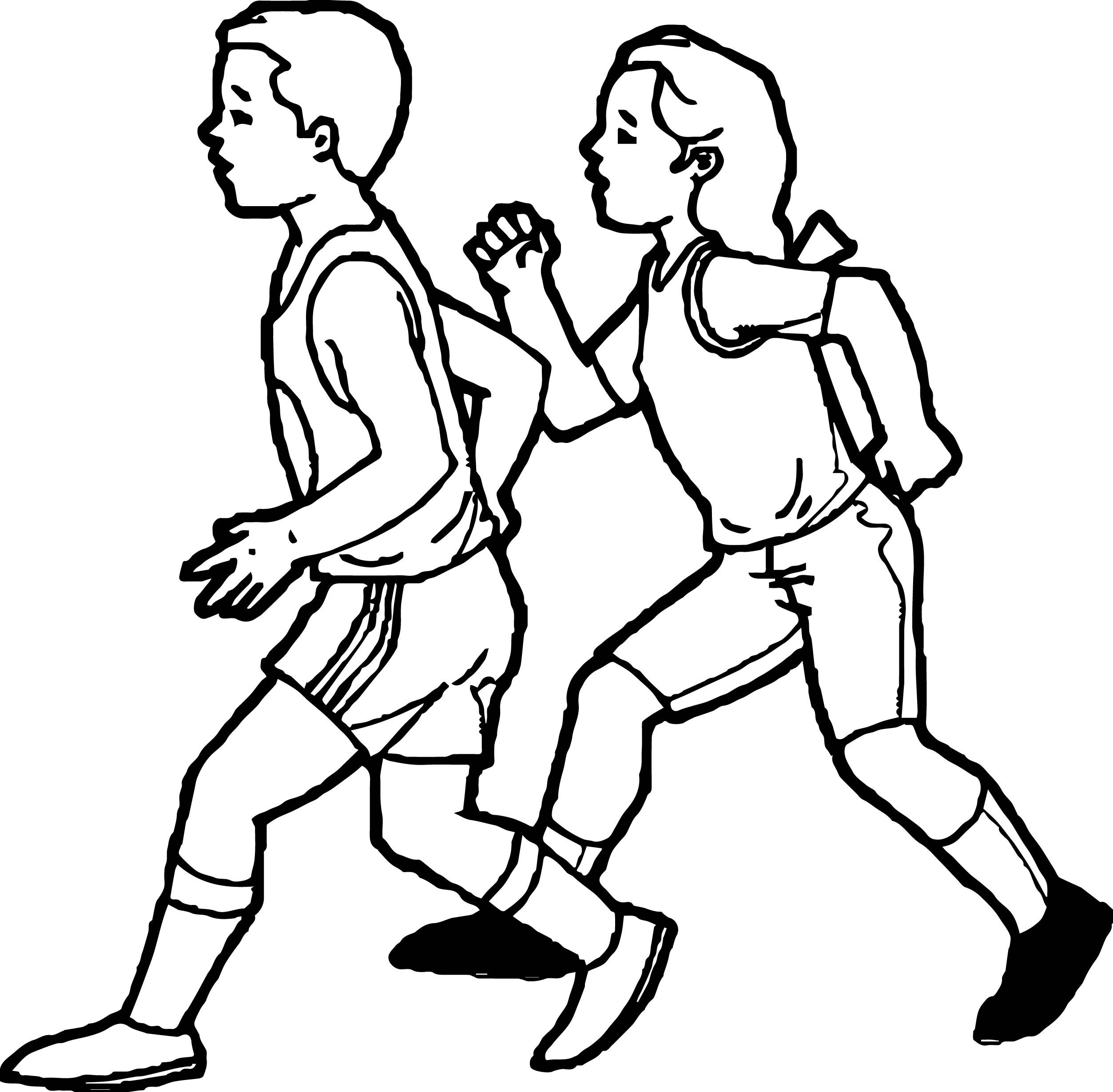 Awesome Physical Activity Coloring Page