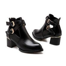 Nueva negro blanco rojo 2016 botines de color amarillo encaje Sexy Women short botas de invierno los pies en punta talón grueso botas de plataforma para las damas(China (Mainland))