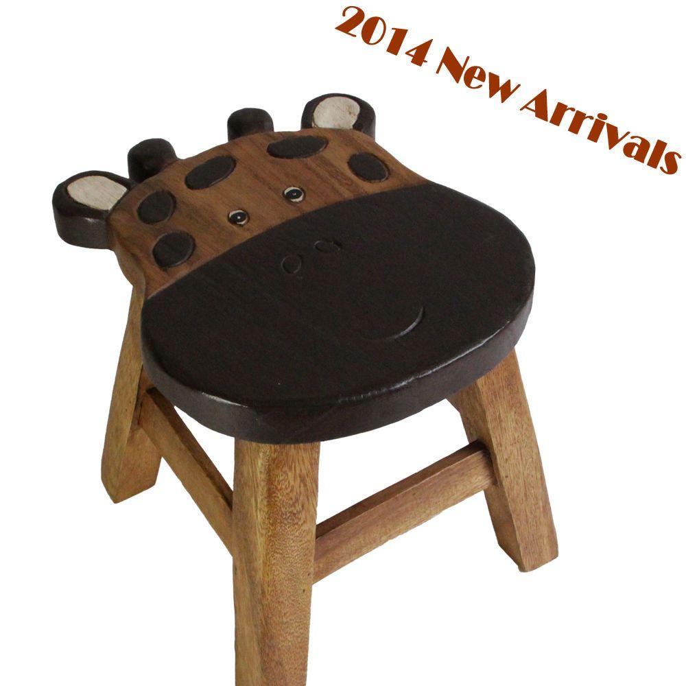 osaka kids wooden step stool chair mango wood timber children furniture giraffe solid wood. Black Bedroom Furniture Sets. Home Design Ideas