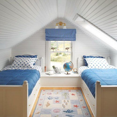 Attrayant Small Sloped Ceiling Bedroom Ideas   Home Attractive
