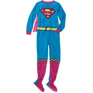 Juniors Character Onesie With Hood or Cape - superman   Pajamas ...