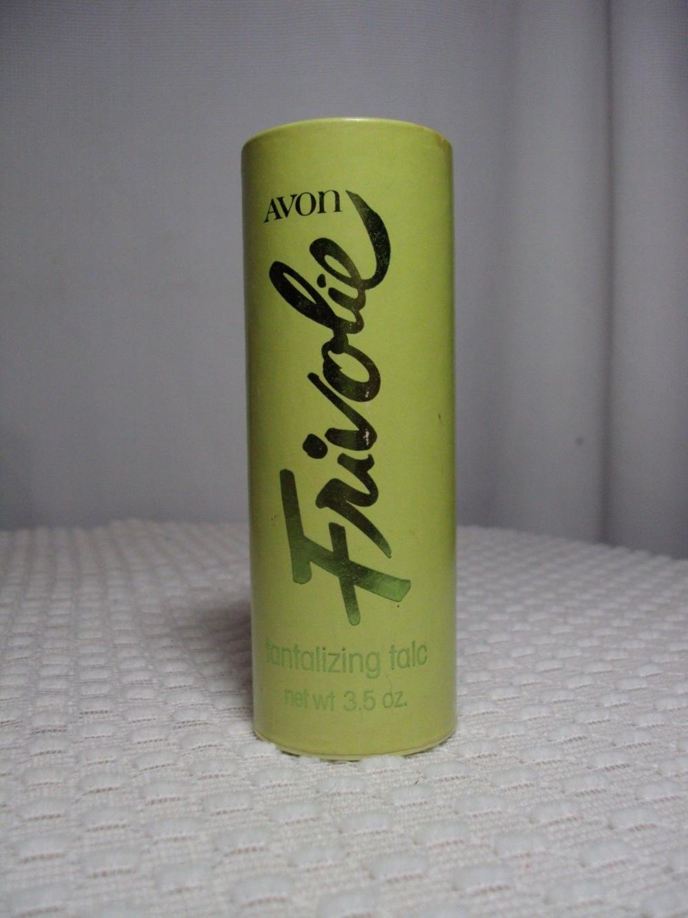 Vintage 90s Avon Frivolie Tantalizing Talc Powder Body