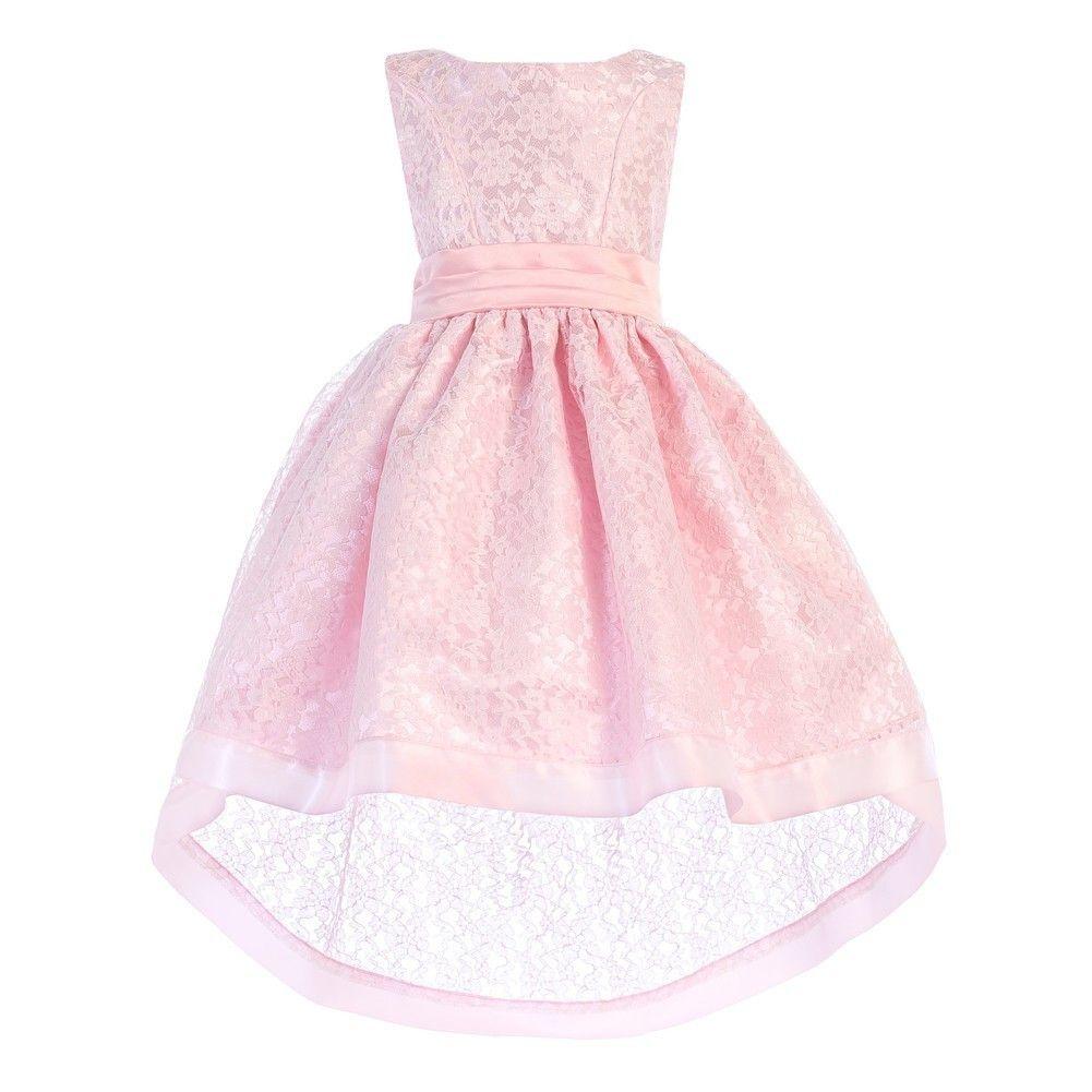 Ellie Kids Ellie Kids Little Girls Pink Lace Satin Sash Bow Hi Low Easter Dress 2 Walmart Com Toddler Girl Dresses Hi Low Dresses Little Dresses [ 1001 x 1001 Pixel ]