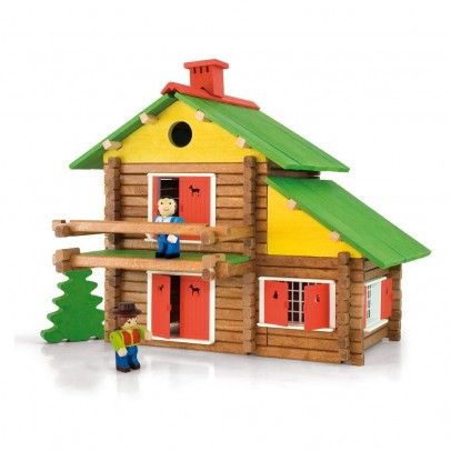 Jeujura Construction game , My wooden chalet , 175 Age : Age 5 and upwards * Number of pieces : 175 * Fabrics : Wood * Composition : natural and stained wood * Color : Multicoloured * Height : 32 cm Width : 39 cm Depth : 11 cm * Wood produced in susta http://www.MightGet.com/january-2017-13/jeujura-construction-game--my-wooden-chalet--175.asp