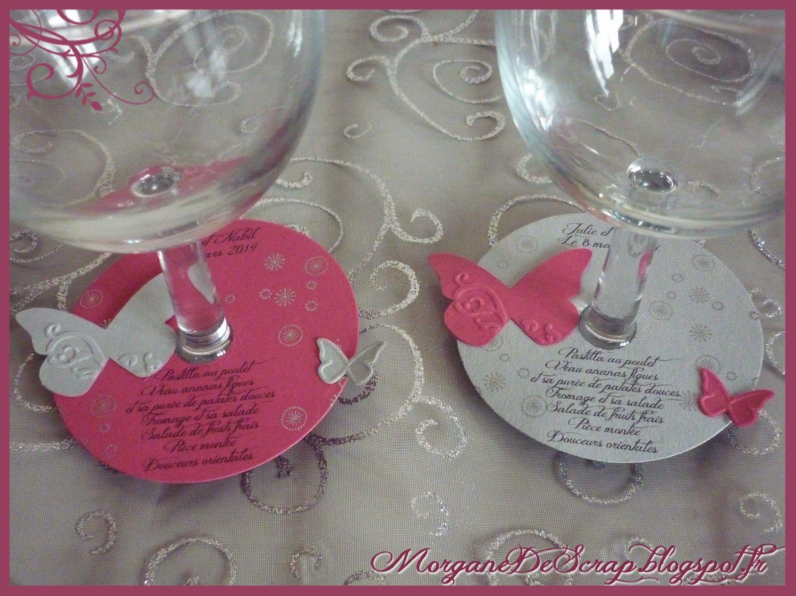 Morgane de scrap menus de mariage scrap deco table for Idee menu anniversaire de mariage