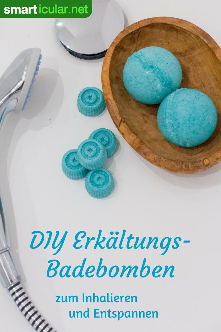 DIY-Erkältungs-Badebomben - gegen Husten, Schnupfen, Gliederschmerzen #bathingbeauties
