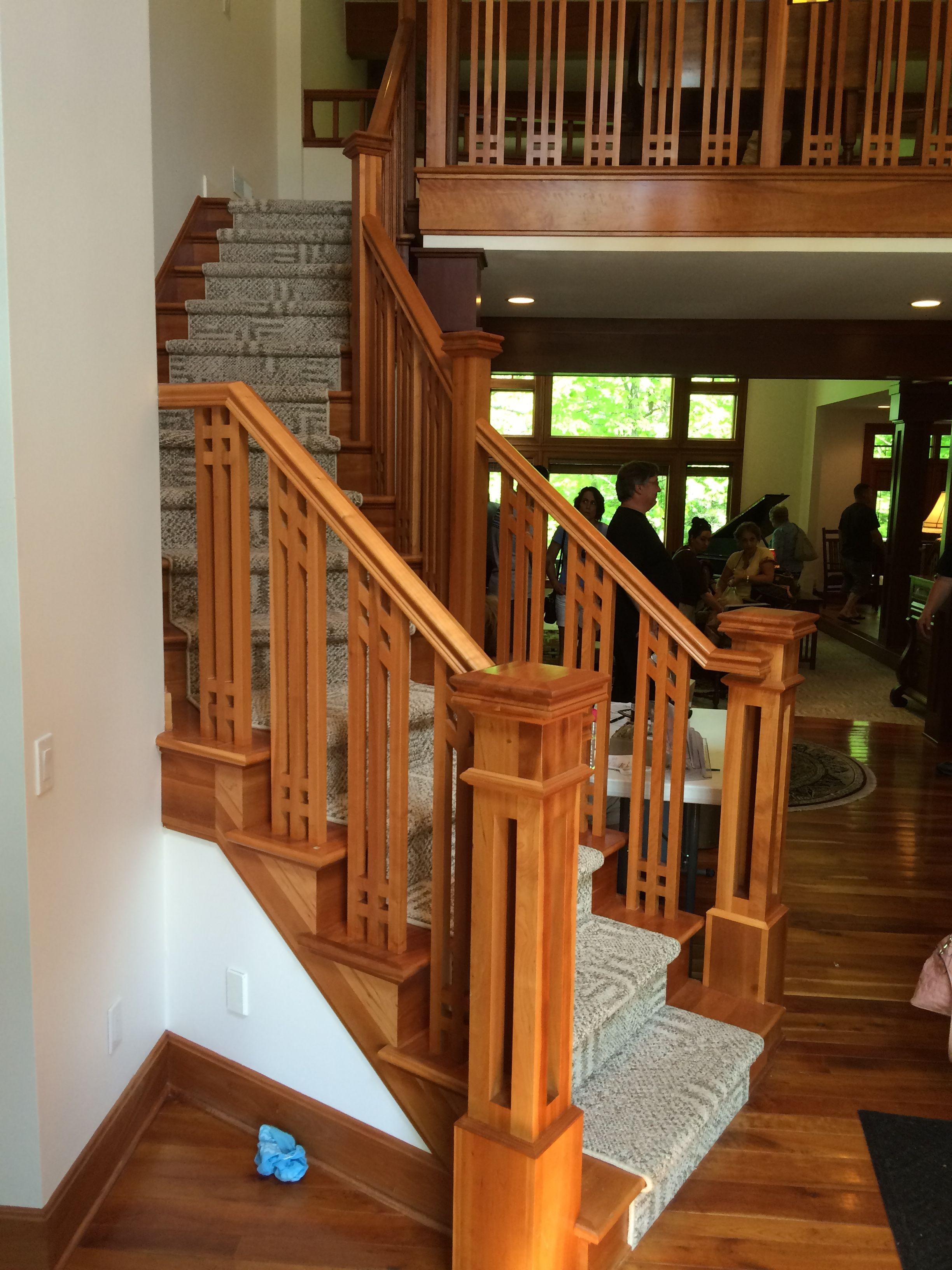 Mission Craftsman Stair Railing Design Craftsman | Craftsman Style Stair Railing