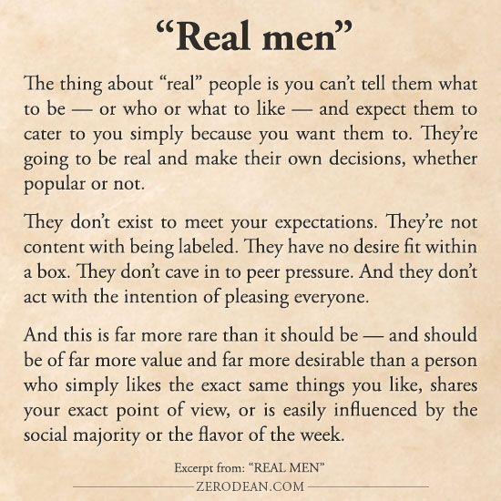 """Excerpt from: """"Real men"""""""
