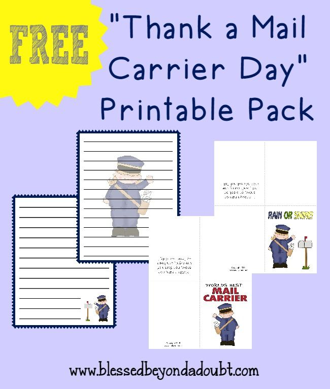 Thank A Mail Carrier Day Printable Pack
