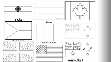Top 10 Free Printable Country And World Flags Coloring