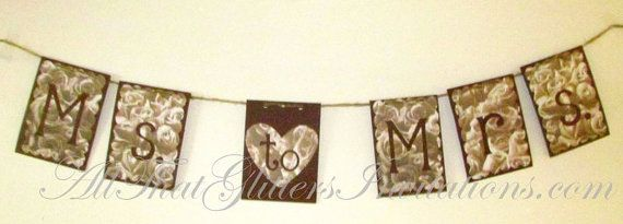 From Ms to Mrs Wedding Banner by ATGInvitations on Etsy, $12.99