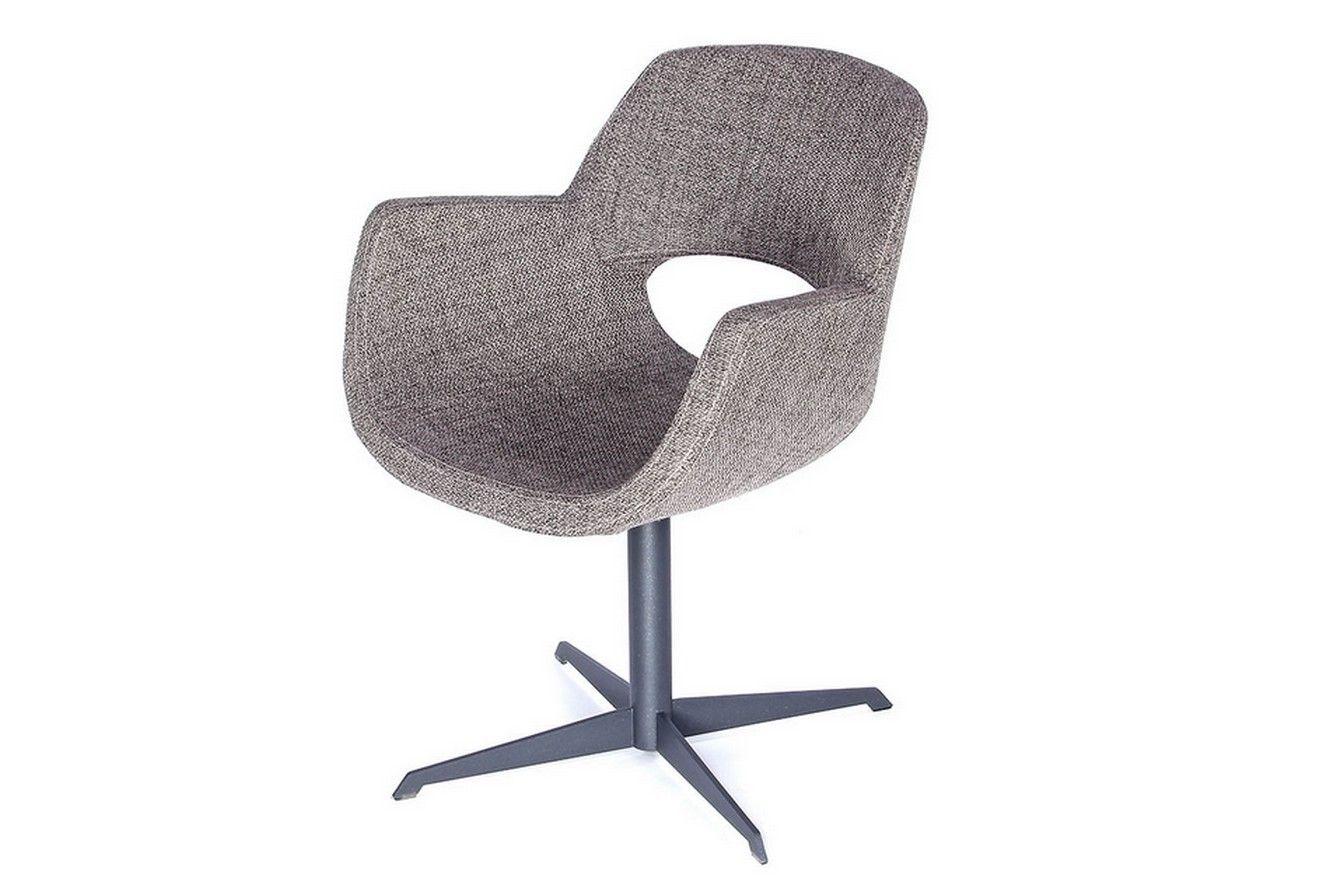 Drehstuhl Stoff stone/grau - Stühle - Sitzgelegenheiten
