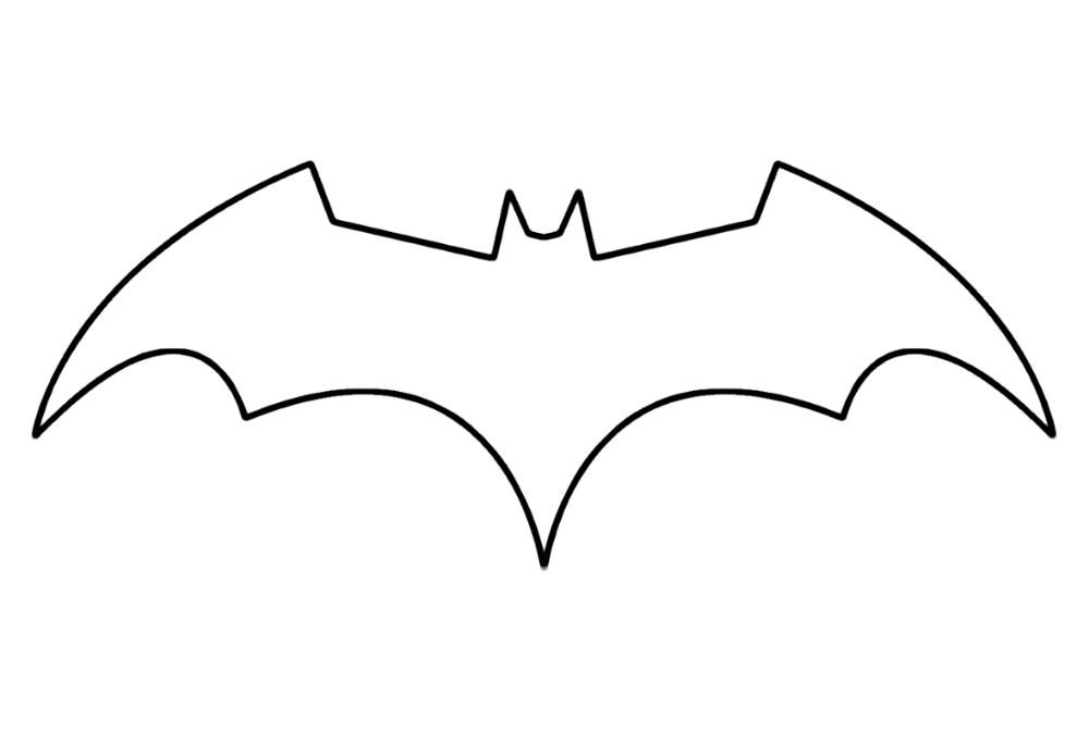 Batman Logo Coloring Pages Template Educative Printable Batman Symbol Batman Logo Tattoo Batman Logo