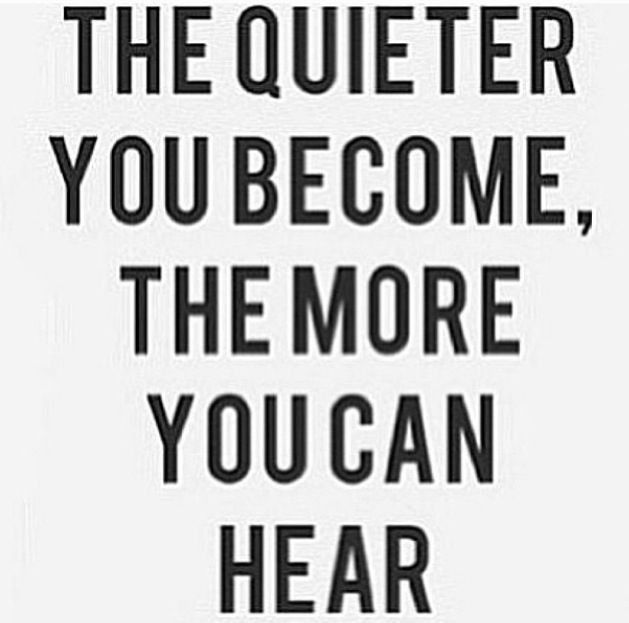 Quietness and Hearing