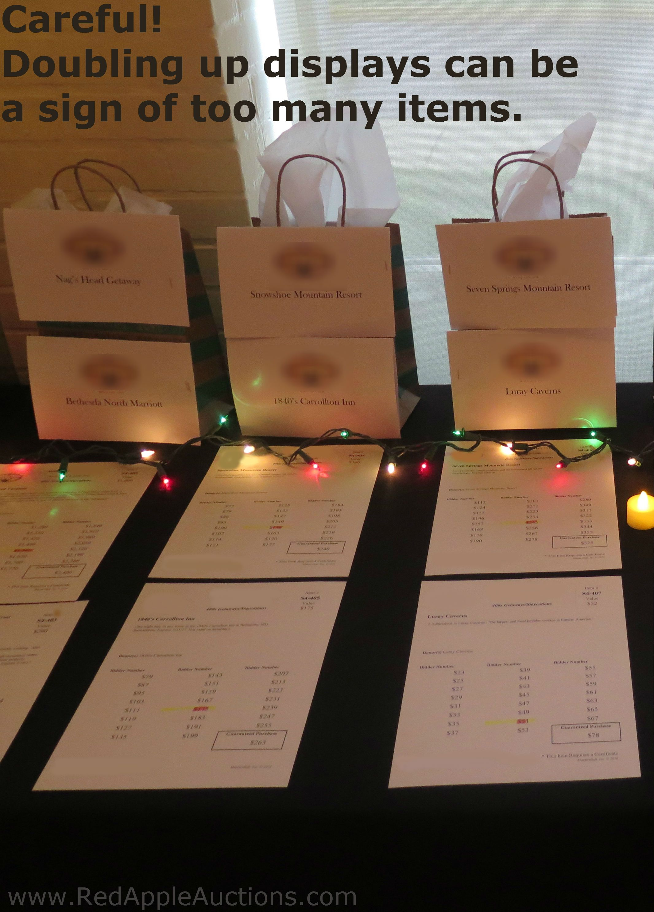 Benefit Auction Item Ideas With Images Silent Auction Display