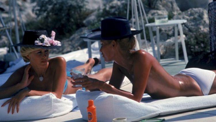 Slim Aarons ('Sunbathing In Antibes', 1976)