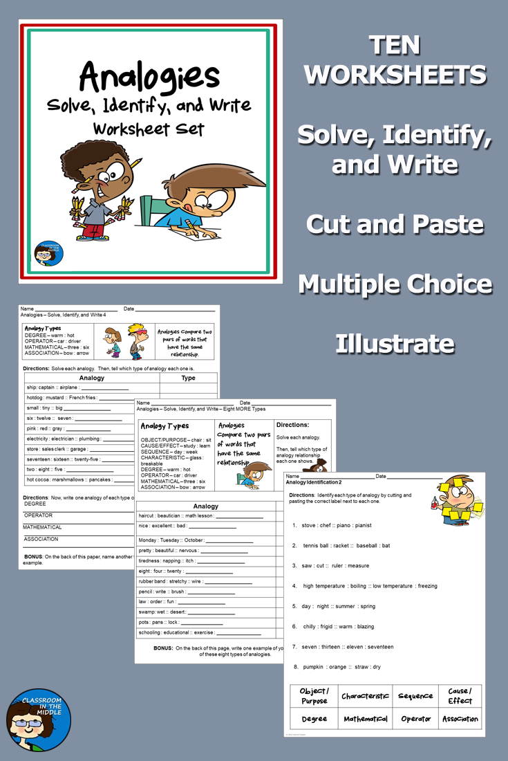 Analogies Activity Sheets And Slide Presentation Word Relationships Analogies Activities Analogy [ 1100 x 735 Pixel ]