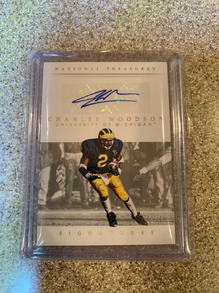 new style 92374 51f10 2015 Panini National Treasures Multi Sport Charles Woodson ...