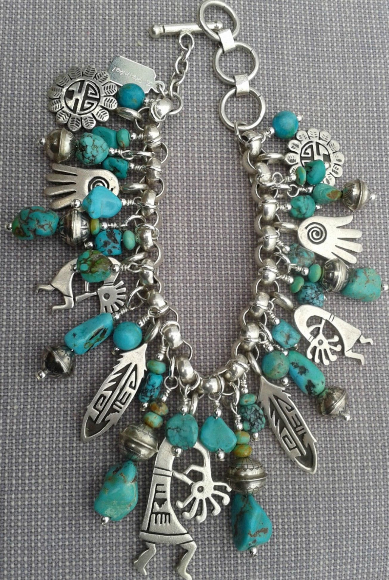 Charm Bracelet Of Silver And Turquoise My Birthday Is Coming Up Hint Lol
