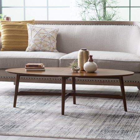 Home Apartment In 2019 Mid Century Coffee Table Oval Coffee