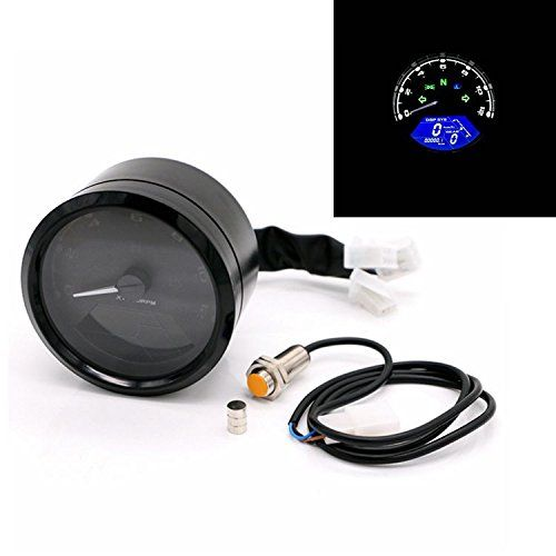Anay 52mm 12000rpm Lcd Digital Tachometer Speedometer