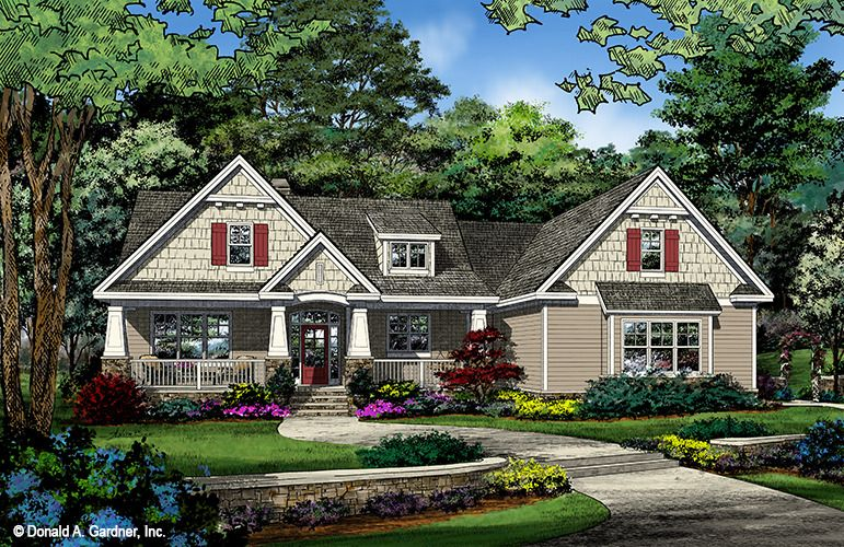 Home Plan The Kavanagh By Donald A Gardner Architects Craftsman House Plans Cottage House Plans Craftsman House