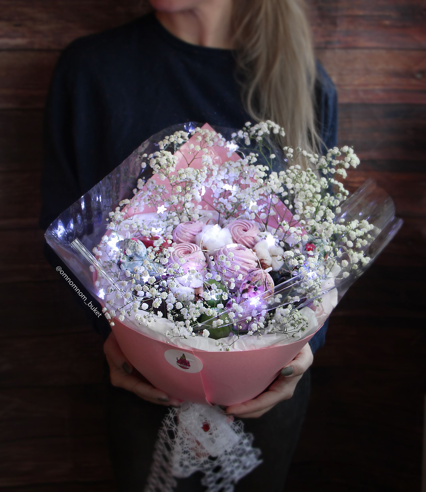 Here is our magic bouquet with sprockets-asterisks. Lights can be ...