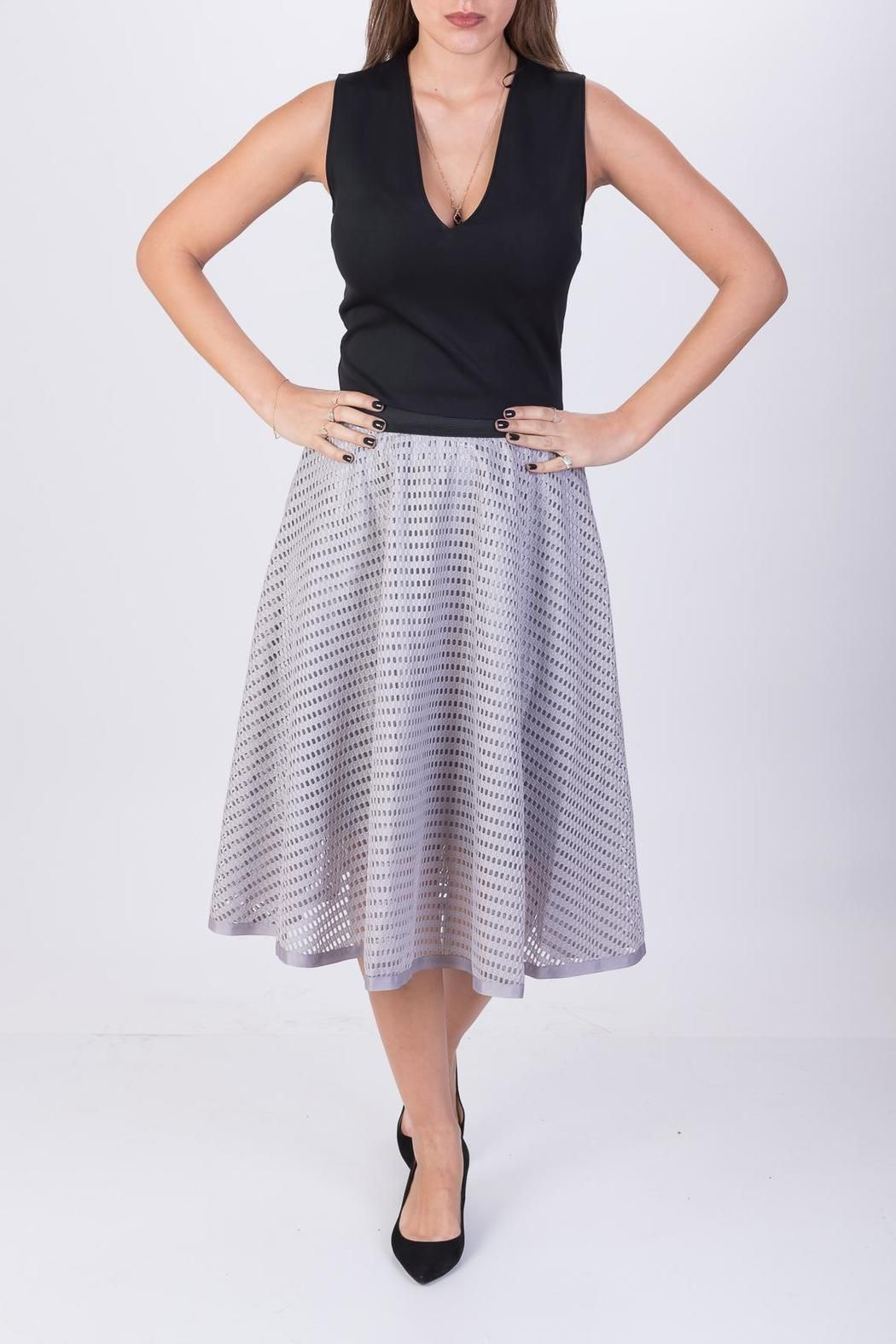 50 shades of grey? this is the nicest! Knee length Taylor Skirt will be your next best friend! A-line super flattering cut and a sophisticated texture! what else could a girl want? :) (One Size would fit European sizes 34-42)  Taylor Skirt  by Shine Brand. Clothing - Skirts - Knee Tel Aviv Israel