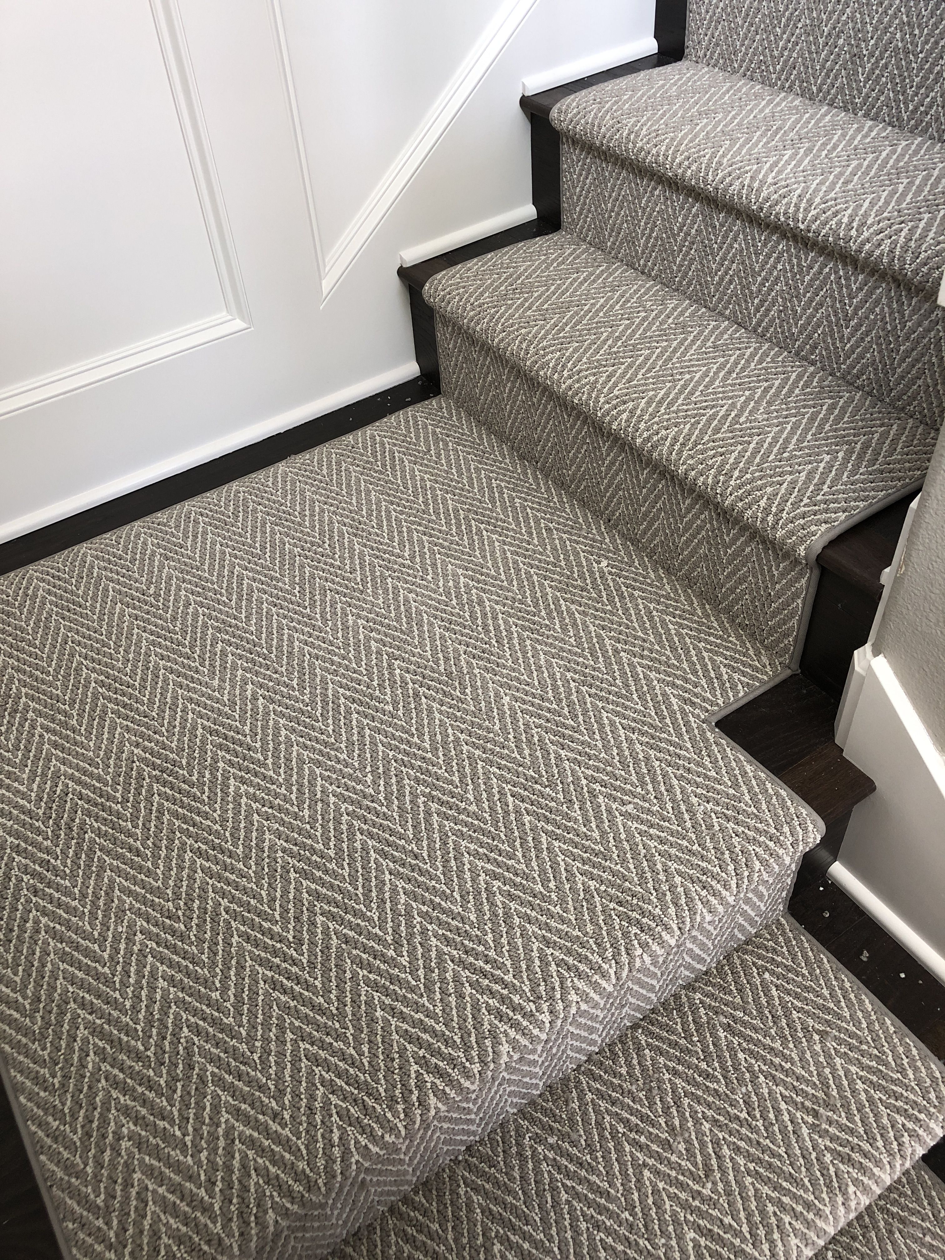 This Herringbone Carpet Stair Runner Is Stair Goals Gorgeous   Durable Carpet For Stairs   Straight   Trendy   Different Style Stair   Hallway   Stair Residential