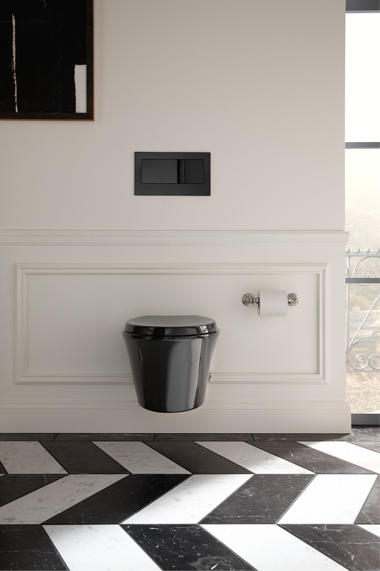 The Bold Look Of Classic Bathroom Design Wall Hung Toilet Modern Toilet