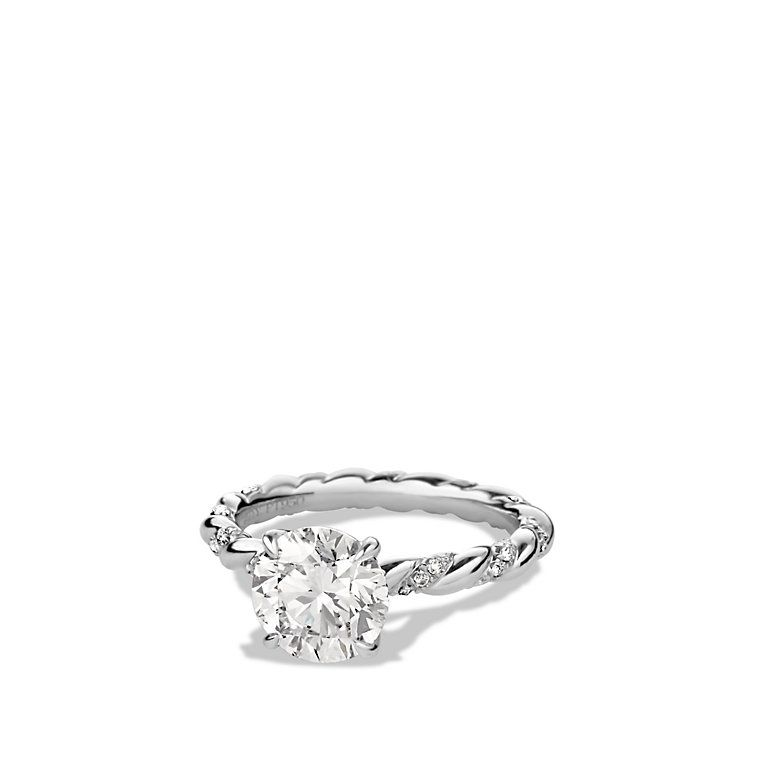 dy unity engagement ring in platinum round - David Yurman Wedding Rings