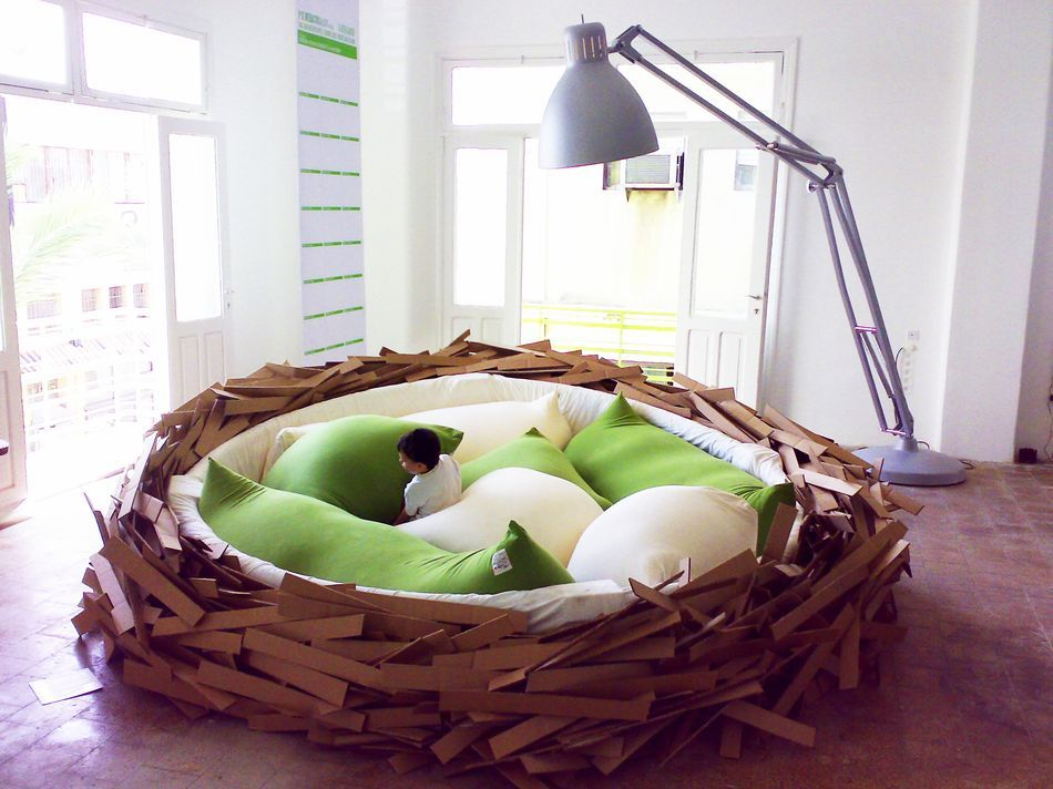 Giant Nest Bed Fulfills All My Big Bird Fantasies | Nest, Spaces and ...