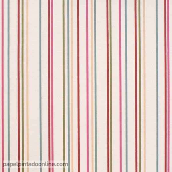 papel pintado infantil lilleby 2657 de rayas verticales con diferente separacin entre s en color - Papel Pintado Rayas Verticales
