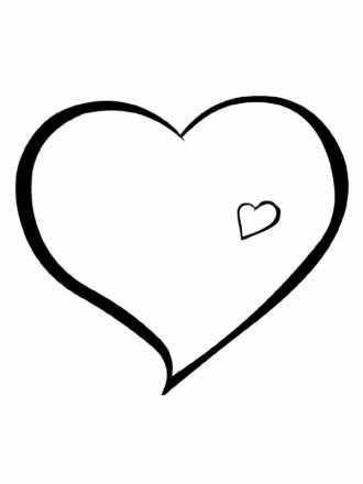 разукрашка сердце формат печати А-4 | Раскраски для печати ...