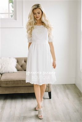 a3057e65ef5f Ivory Emboridered Sundress Modest Dress, Vintage Dress, Church Dresses,  dresses for church, modest bridesmaids dresses, trendy modest, modest  skirt, modest ...