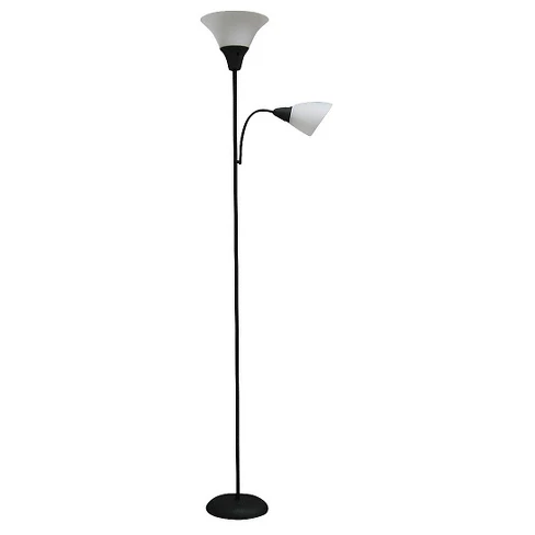 Torchiere With Task Light Floor Lamp Black Room Essentials Black Floor Lamp Floor Lamp Lamp