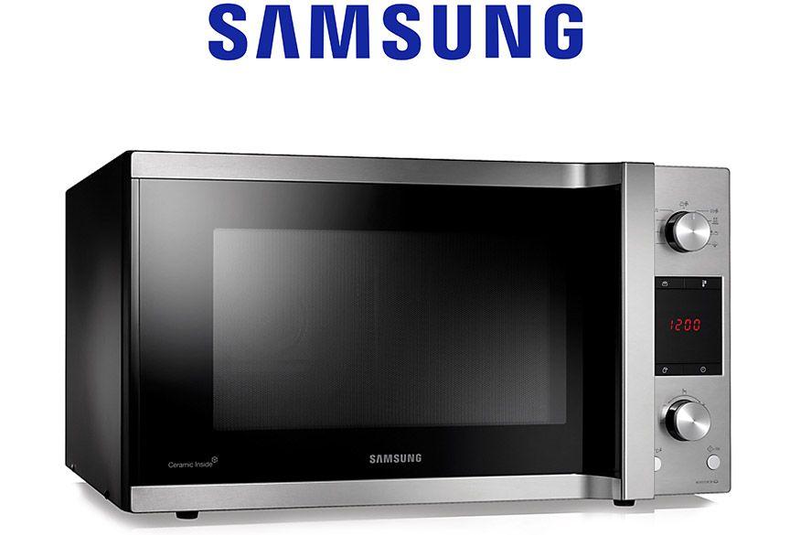 سامسونج مايكرويف فرن 45 لتر فضي Samsung Microwave Small Appliances Samsung