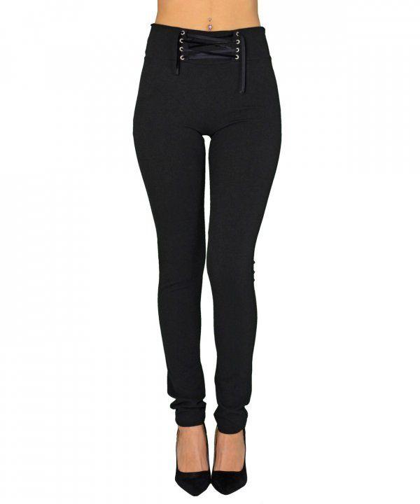 9edf1de644ad Γυναικείο ψηλόμεσο παντελόνι Lipsy μαύρο κολάν 2170321F   παντελονιαγυναικεια  women  womensfashion  womenswear