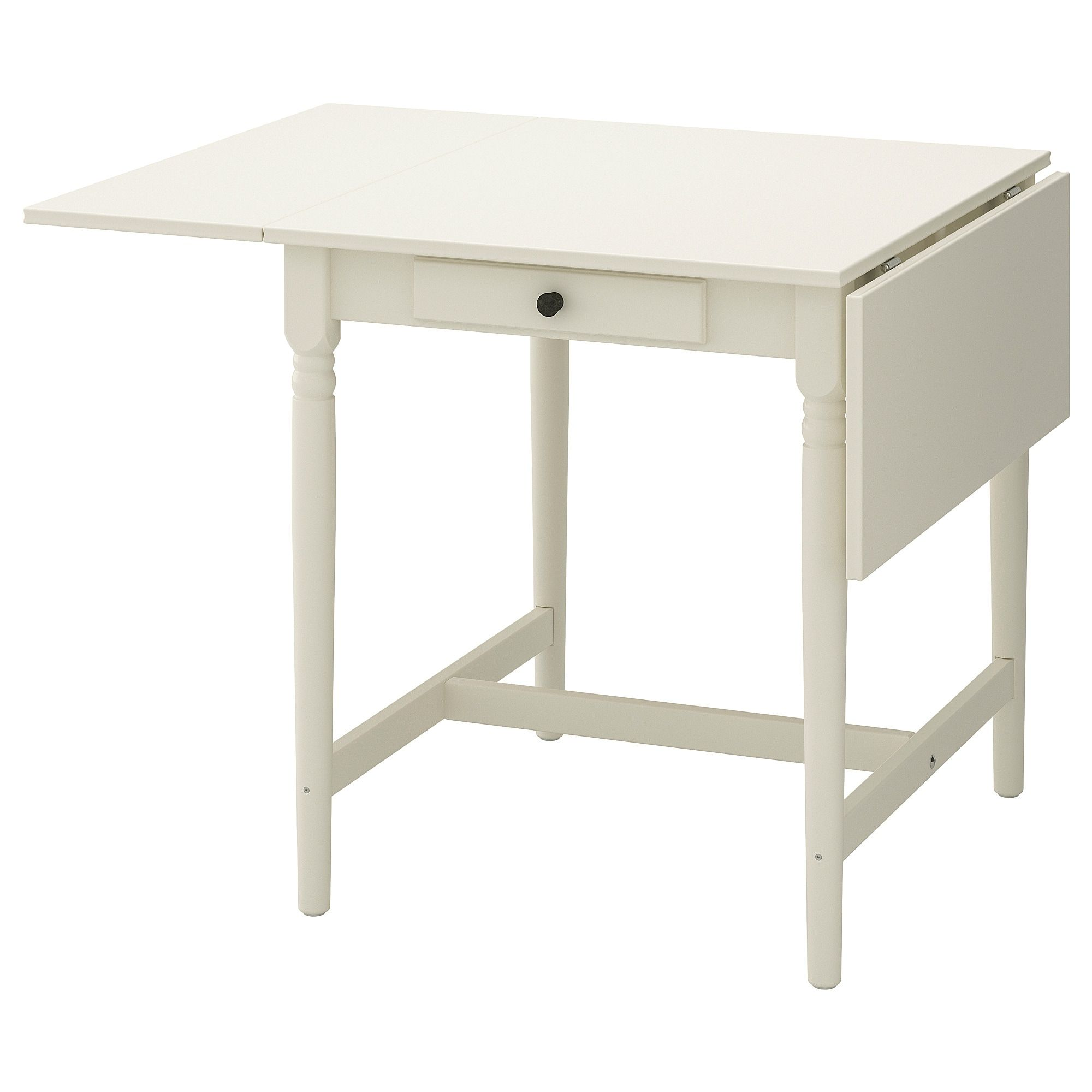 Ikea Ingatorp White Drop Leaf Table Drop Leaf Table Leaf Table