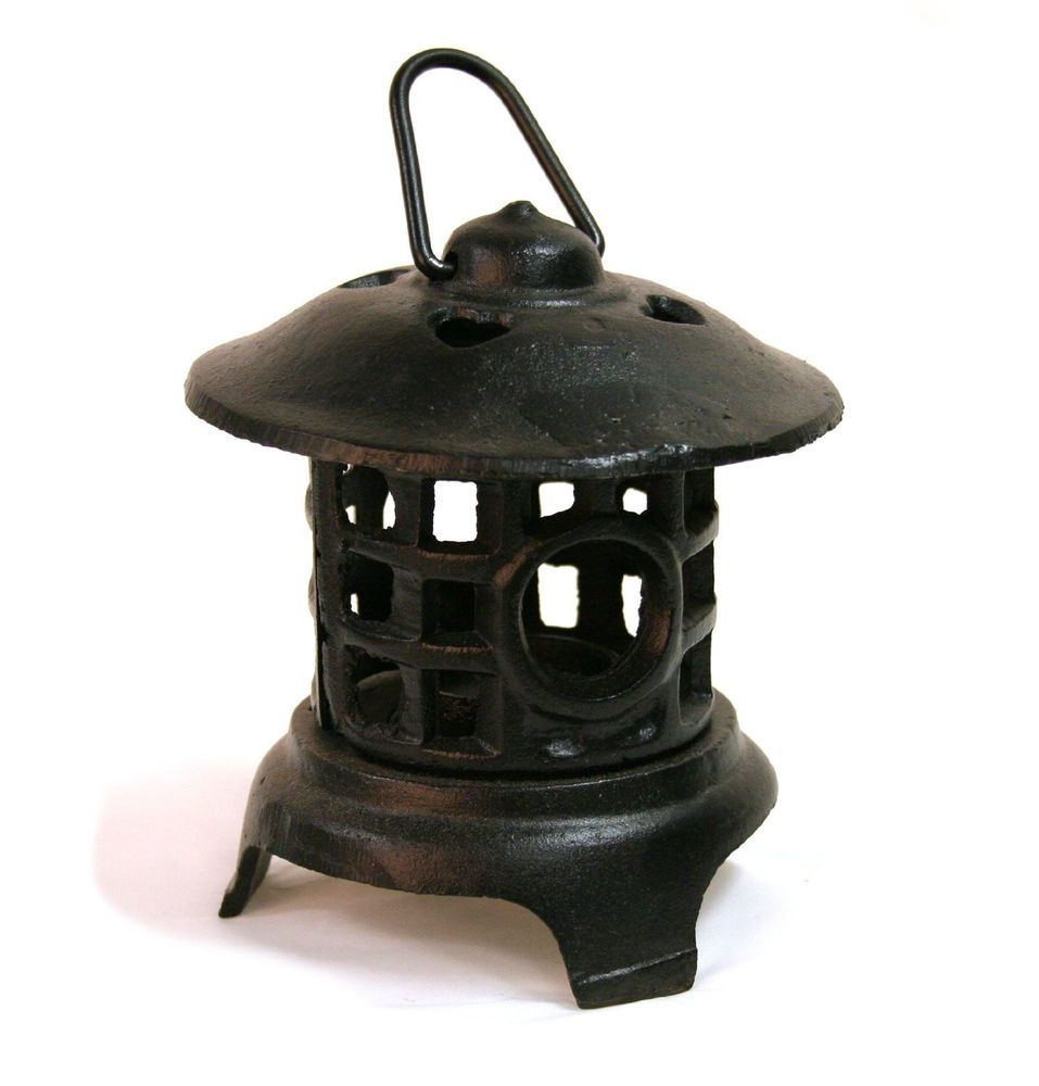 oriental cast iron lantern blk backyard patio garden natural