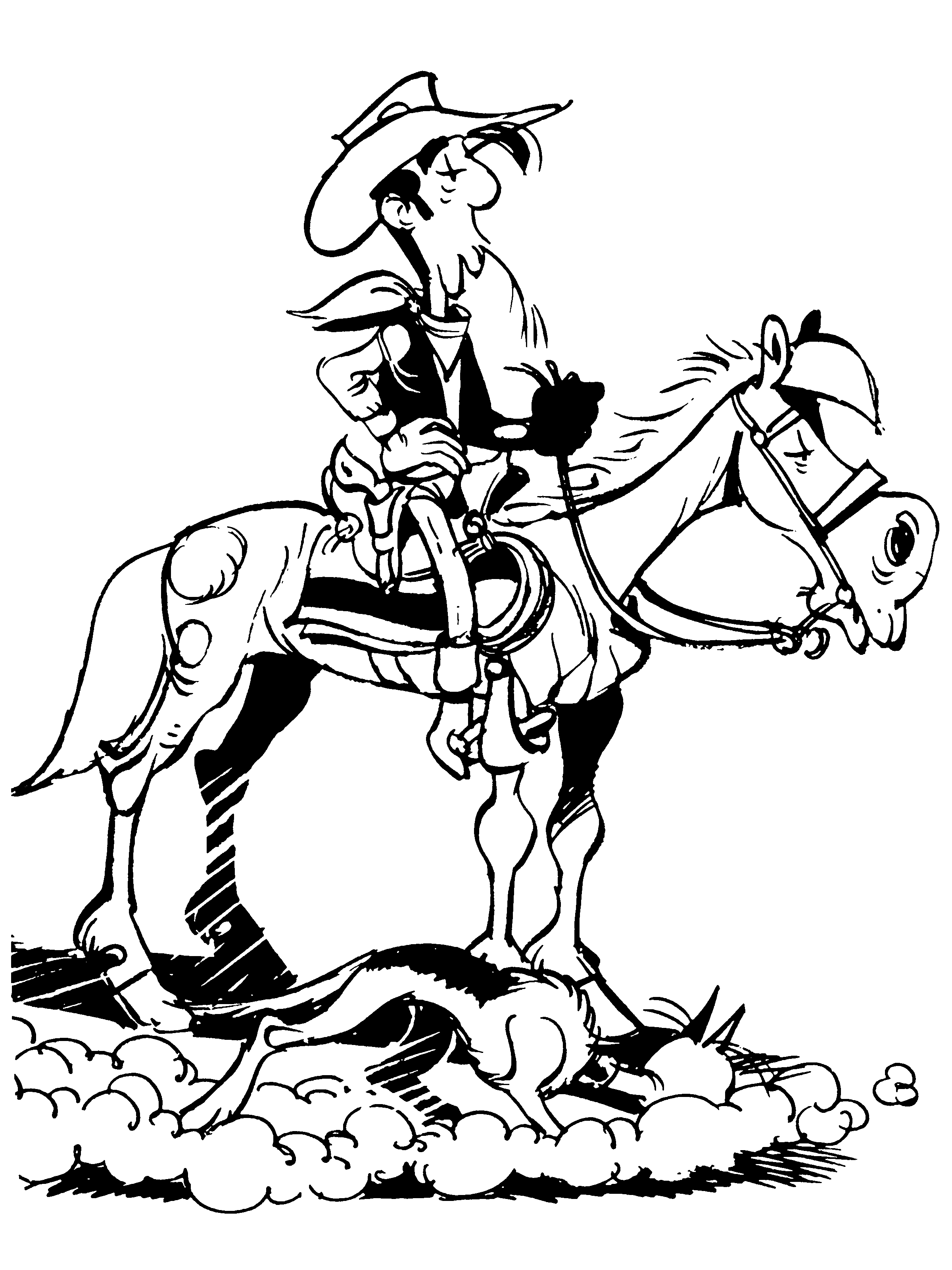 Pin By Deanne Comstock On Cowboy Lucky Luke Horse Coloring Pages Horse Coloring [ 3200 x 2400 Pixel ]