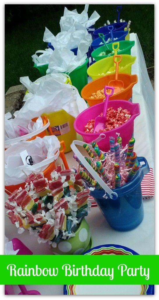 Rainbow Birthday Party - Operation $40K #Rainbow #Birthday