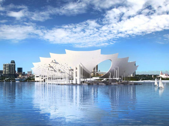 A Rendering Of The Lens Pier Designed By Michael Maltzan In St Petersburg Florida C Michael Maltzan Ar Landscape And Urbanism Design Competitions Petersburg