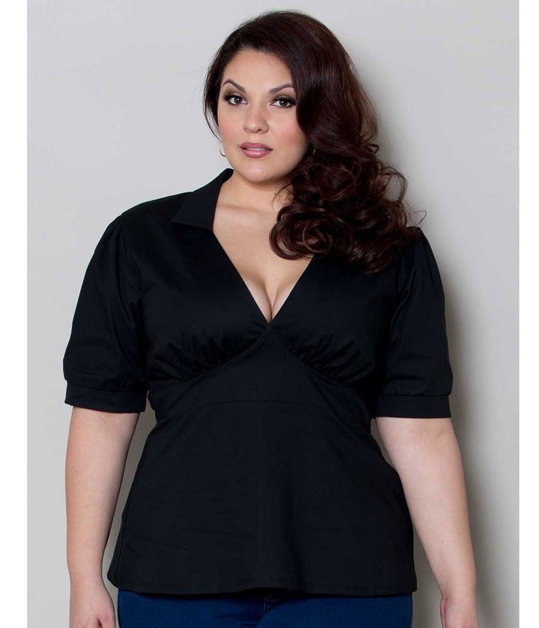 Plus Size Retro Style Black Heidi Cotton Top | fashions I like ...