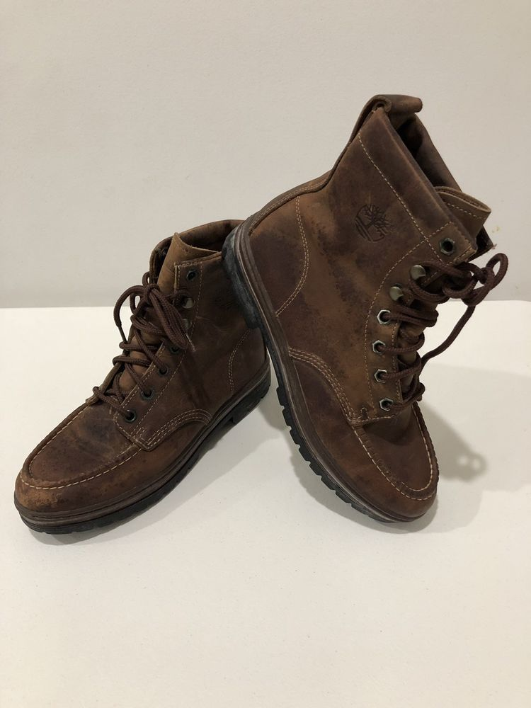 316180363a4e3 Vintage Timberland Women Deadstock Brown Leather Boots Style 69371 ...