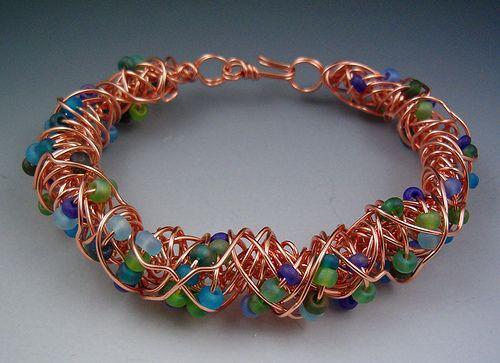 copper wire bracelet by Leslie Todd   my jewelry   Pinterest