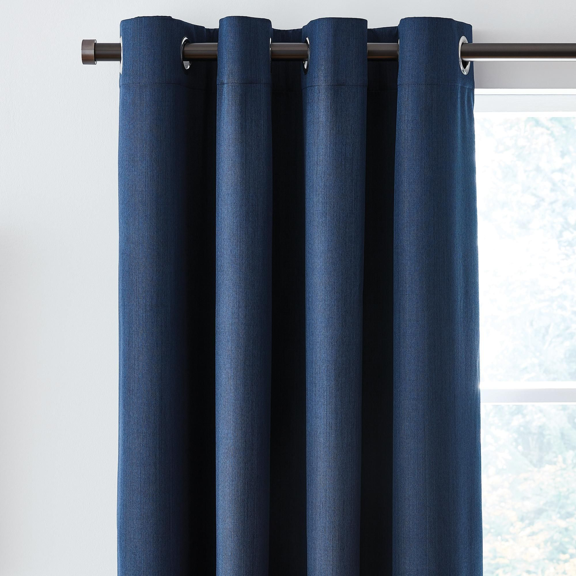 Solar Navy Blackout Eyelet Curtains In 2020
