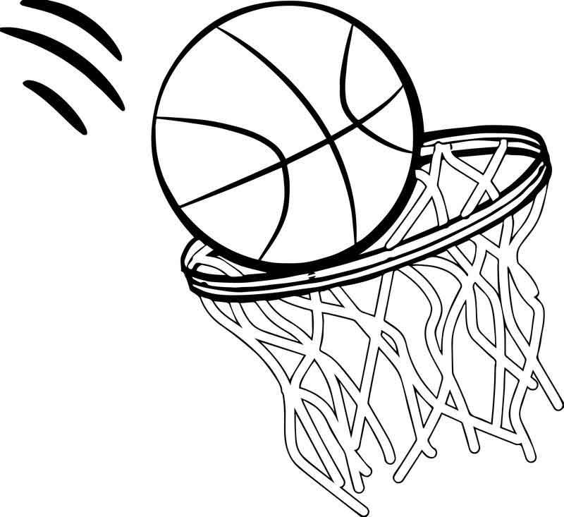 Any Basketball Free Coloring Page Sports Coloring Pages Coloring Pages Free Coloring Pages